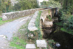 Melide bridge Royalty Free Stock Photos