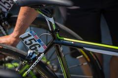 Melide, Italia 28 2015 Maj; Rower Davide Formol Zdjęcie Stock