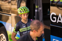 Melide, Italia 28 May  2015; Davide Formolo ready to go before a stage Stock Photography