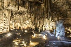 Melidoni grotta i Kreta, Grekland royaltyfria bilder