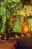 Melidoni grotta. Kreta. Grekland Royaltyfri Foto