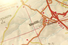Melilli. The island of Sicily, Italy.  Royalty Free Stock Images