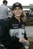 5th Annual Celebrity Cadillac Super Bowl Grand Prix. Melina Kanakaredes participates in the 5th annual celebrity Cadillac Super Bowl Grand Prix at the American royalty free stock photos