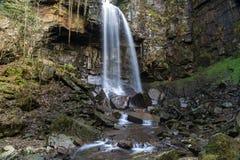 Melincourt vattenfall Stillsam hög vattenfall Fotografering för Bildbyråer