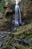 Melincourt vattenfall Stillsam hög vattenfall Royaltyfri Bild