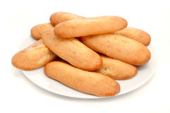 Melindros, typical pastries of Catalonia, Spain Stock Photos