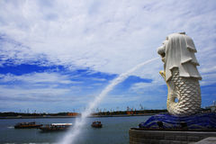 Melion. A symbolic statue or sculture in Singapore Royalty Free Stock Photos