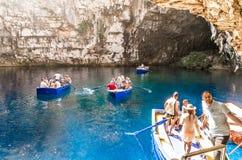 Melisani See in Melissani-Höhle Stockfoto