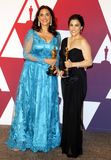 Melissa Berton, Rayka Zehtabchi. Melissa Berton and Rayka Zehtabchi at the 91st Annual Academy Awards - Press Room held at the Loews Hotel in Hollywood, USA on stock image