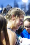Melissa Bishop, Canadian track and field athlete. Melissa Bishop, Canadian women 800m record holder giving autographs. Picture taken June17,2016 royalty free stock images