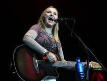 Melissa Etheridge perfoms στη συναυλία στοκ εικόνα