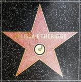 Melissa Etheridge stjärna på Hollywood går av berömmelse royaltyfria foton