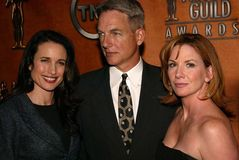 Melissa Gilbert,Mark Harmon,Andie Macdowell. Melissa Gilbert, Mark Harmon and Andie MacDowell at the 10th Annual Screen Actors Guild Awards Nominations Royalty Free Stock Images