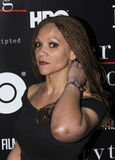 Melissa Harris-Perry. Controversial former MSNBC television host Melissa Harris-Perry arrives on the red carpet for the New York special screening of Everything royalty free stock images