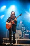 Melissa Horn au festival de paix et d'amour Image libre de droits