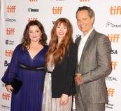 Melissa McCarthy, Richard E Grant e o diretor Marielle Heller no podem você nunca perdoar-me na premier TIFF2018 fotos de stock
