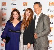 Melissa McCarthy, Richard E Grant e o diretor Marielle Heller no podem você nunca perdoar-me na premier TIFF2018 imagens de stock royalty free