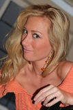 Melissa Mojo Joe Hunter. At Sundance 2005 smiles at the camera royalty free stock photography