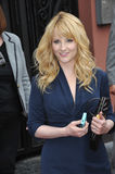 Melissa Rauch. LOS ANGELES, CA - MARCH 11, 2015: Actress Melissa Rauch on Hollywood Blvd where Jim Parsons is honored with the 2,545th star on the Hollywood Walk royalty free stock photos