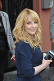 Melissa Rauch. LOS ANGELES, CA - MARCH 11, 2015: Actress Melissa Rauch on Hollywood Blvd where Jim Parsons is honored with the 2,545th star on the Hollywood Walk stock photo