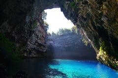Melissani cave, Kefalonia. Famous Melissani cave on Kefalonia island, Greece Stock Image