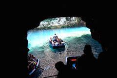 Melissani cave Stock Image