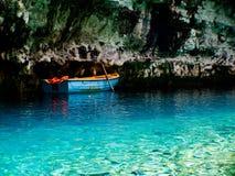 Melissani cave in Kefalonia island, Greece. royalty free stock photos