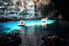 Melissani cave Royalty Free Stock Image