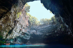 Melissani cave Stock Photos