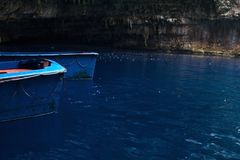 Melissani grotta Royaltyfri Foto