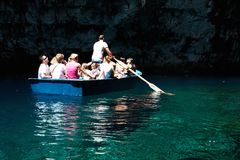 Melissani Höhle Lizenzfreies Stockbild
