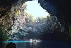 Melissani-Höhle in der Insel von Kefalonia, Griechenland Lizenzfreies Stockbild