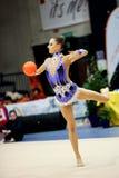 Melitina Staniouta con la palla Fotografie Stock
