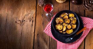 Melitzanes Tiganites - fried aubergines in the Greek style. royalty free stock images
