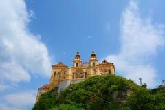 Melk修道院修道院或Stift Melk是一个本尼迪克特的修道院在Melk,俯视多瑙河和瓦豪谷,欧洲的奥地利 库存图片