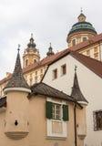 Melk修道院外部在奥地利 库存照片