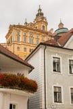 Melk修道院外部在奥地利 库存图片