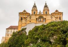 Melk修道院外部在奥地利 免版税库存照片