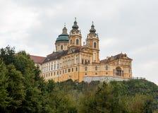 Melk修道院外部在奥地利 免版税图库摄影