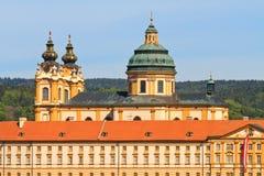 Melk - abadía barroca famosa (Stift Melk), Austria Imagenes de archivo