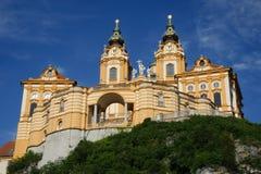 Melk Abbey. Baroque benedictine abbey in Lower Austria's town Melk Stock Photography