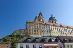 Melk Abbey, Austria. Melk Abbey is an Austrian Benedictine abbey and one of the world's most famous monastic sites Royalty Free Stock Images