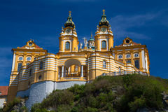 Melk Abbey Austria. The outside of Melk Abbey in Austria during the day in the summer. There is space for text Royalty Free Stock Photography