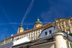 Melk Abbey. Is an Austrian Benedictine abbey and one of the world's most famous monastic sites Royalty Free Stock Photos