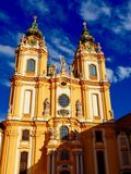 Bright day at Melk Abbey royalty free stock photography
