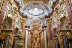 Melk Abbey Church in Österreich Lizenzfreies Stockfoto