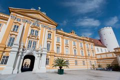 Melk Abbey, Austria. Melk Abbey church in Austria Royalty Free Stock Photo