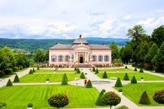 Melk Abbey gardens. View over the garden at Melk Abbey, Austria Stock Photography