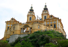 Melk Abbey, Gorgeous UNESCO World Heritage Site on the Hilltop of Melk Royalty Free Stock Photo