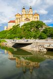 Melk Abbey Monastery, Österrike Arkivfoto